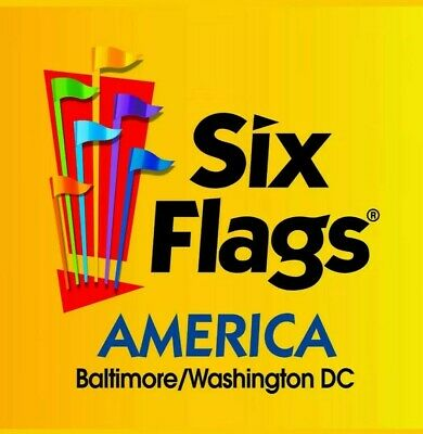 5 - SIX FLAGS AMERICA BaltimoreDC ONE-DAY-TICKET any day during 2019 season