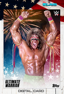 2019 FOURTH OF JULY FIREWORKS MOTION ULTIMATE WARRIOR Topps WWE Slam Digital