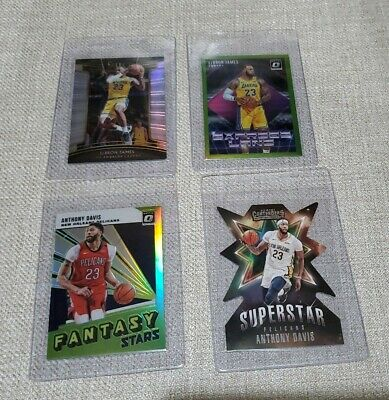 2018-19 Donruss Optic Express Lane Lime Green LeBron James 149 and Davis lot 4