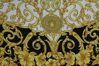 VERSACE AUTHENTIC MADE IN ITALY PURE SILK TWILL FABRIC  CENTIMETERS  270 X 140