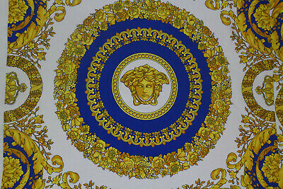 VERSACE AUTHENTIC MADE IN ITALY PURE SILK TWILL FABRIC  CENTIMETERS  140 X 140