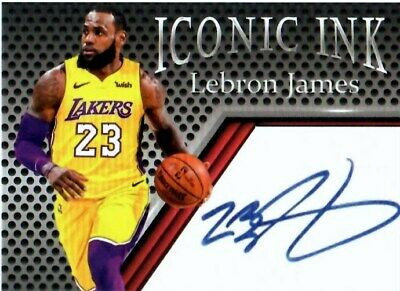 LEBRON JAMES - LOS ANGELES LAKERS - 2018 ICONIC INK - FREE SHIPPING