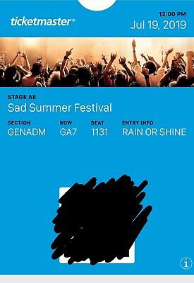 2 Sad Summer Festival tickets at Stage AE