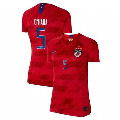 NIKE KELLEY OHARA 5 USA 2019 WORLD CUP 2020 4 STAR RED WOMENS JERSEY GOLD PATCH