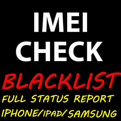 Details about  Check blacklist status info Worldwide via IMEI any device Iphone