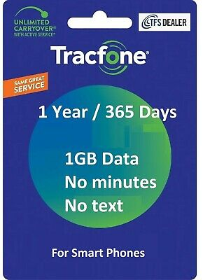 TracFone Service Extension 1 Year 365 Days - 1GB Data For SmartPhones
