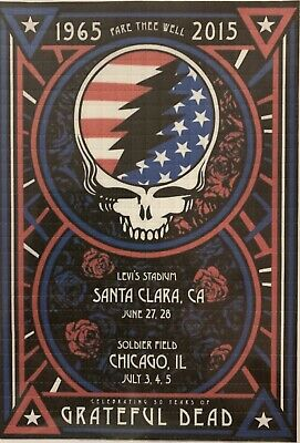 BLOTTER ART - Grateful Dead - Fare Thee Well Concert Poster 2 - 600 Squares Ltd