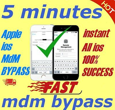 APPLE MDM BYPASS IPHONE IPAD IPOD ALL iOS TILL 13-7-1  SUPPORTED