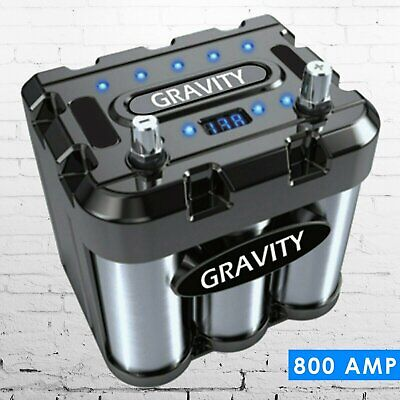 Gravity 800A Car Audio Battery Stiffening Power Capacitor Mobile Stereo System