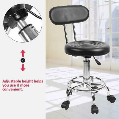 Medical Rolling Stool Salon Chair with Rolling wheels Hydraulic Nail Pedicure