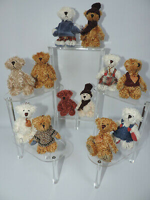 Miniature Teddy Bear Ornaments - 12 pc- Assorted Set