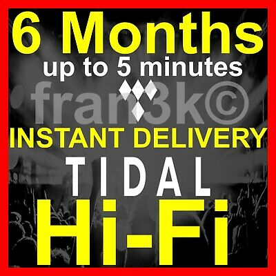 TIDAL Hi-Fi - 6 Months GUARANTEED - INSTANT 5 min DELIVERY