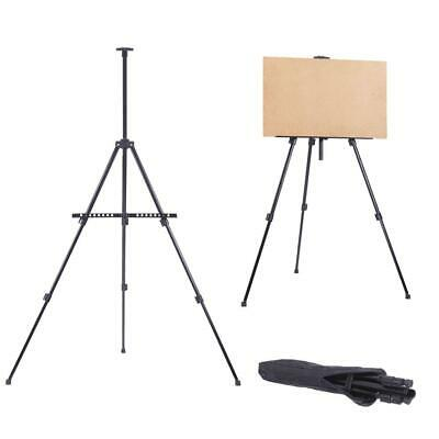 Artist Folding Painting Easel Tripod Display Stand Iron Metal Black Craft Bag