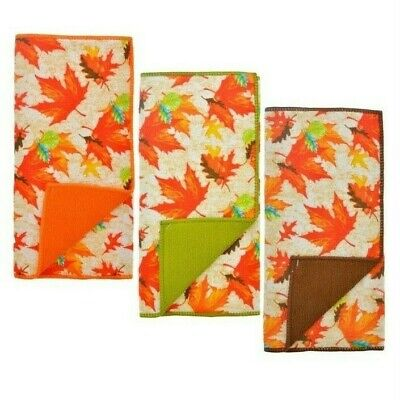 Fall Polyester Drying Mat 12 x 18 - Fall Harvest Leaves - Autumn Thanksgiving