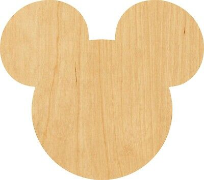 Mickey Mouse Ears 0959 Laser Cut Out Wood Shape Craft Supply - Woodcraft