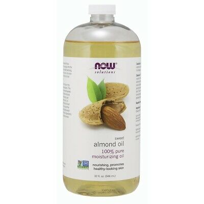 Now Foods Sweet Almond Oil - 32 Oz- made in USA FREE SHIPPING