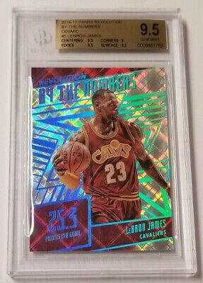 2016-17 REVOLUTION LEBRON JAMES BY THE NUMBERS COSMIC 23100  BGS 9-5 GEM MINT