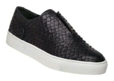 VINCE Womens Nelson Black Embossed Lether Sneakers Slip On Size 9 M