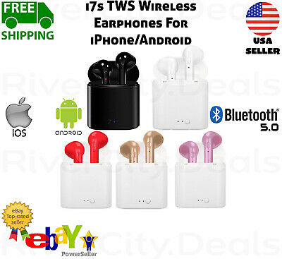 i7s TWS Wireless Bluetooth Earphones Earbuds Headphones For iPhone Android iOS