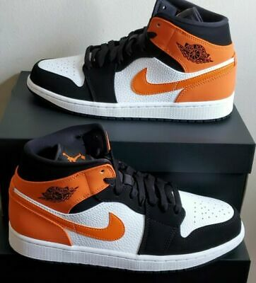 Nike Air Jordan Retro 1 Mid Shattered Backboard Starfish 554724-058 Orange Men