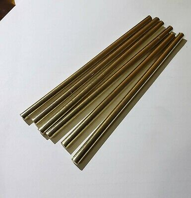 14 x 6 BRASS 6 pcs round Rod Knife Making machine pin stock