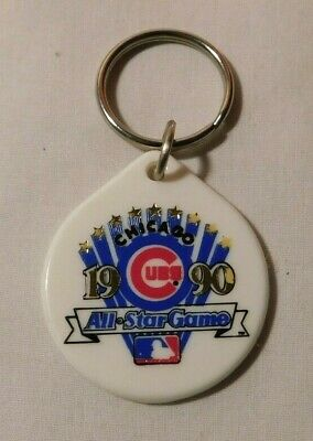 1990 MLB Baseball All Star Game Chicago Cubs Keychain