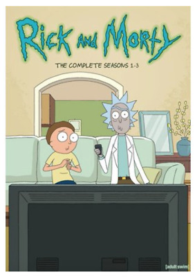 Rick and Morty Complete Seasons 1-3 1 2 3 Boxset DVD - Includes Exclusive Poster