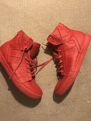 Mens Supra High Tops Red Shoes 12