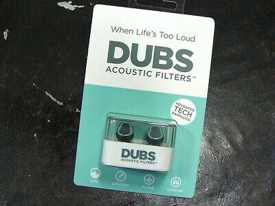 DUBS Acoustic Filters 12dB Noise Reduction Ear Plugs Doppler Labs