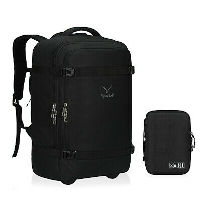 42L Travel Suitcase With Wheeled Rolling Backpack Carry On Luggage With Data Bag