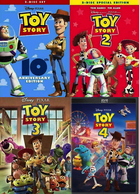 Toy Story I II III - IV DVD Combo 1234 1 2 3 4 Complete Collection