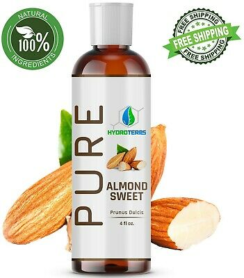 Sweet Almond Oil 4 oz 100 Pure Organic Carrier For Skin Face Hair and Massage