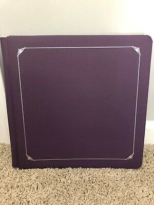 New CREATIVE MEMORIES 12X12 scrapbook album - purple with silver embossed frame