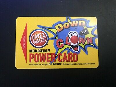 Dave and Buster Power Card 1375 Chips