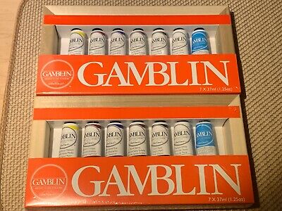 Gamblin Lot of 2 Artist's Grade Oil Color Set 200 Free Same Day Priority Ship