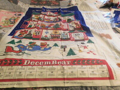 4  A Beary Merry  Christmas Cotton Fabric Panel WallhangingCalendar LK