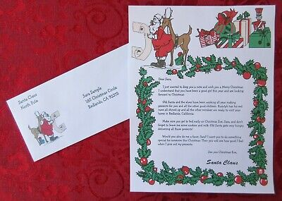 Personalized Letter From Santa Claus on Checking His List Paper