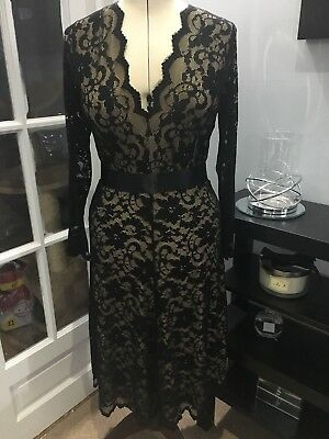 Kate Middleton Black Lace Dress 14 To 16 Cost £160