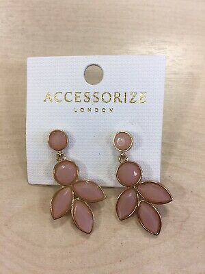 Accessorize Polly PETAL Kate Middleton Duchess of Cambridge Drop Earrings