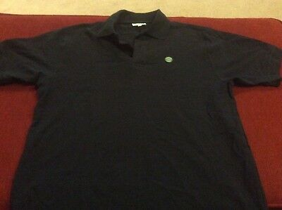 WIMBLEDON THE CHAMPIONSHIPS NAVY BLUE SIZE SMALL POLO SHIRT ALL ENGLAND CLUB