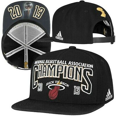 Miami Heat adidas 2013 NBA Champions Official Locker Room Cap Hat - Adjustable