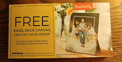Shutterfly free 5x7 Easel Back Canvas Codes - 50 off code  expires 123119