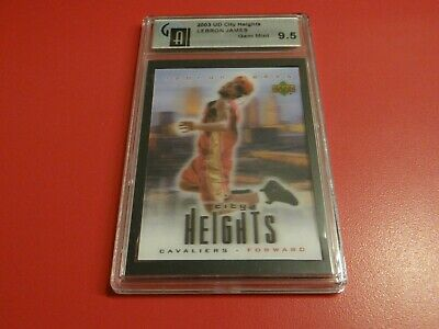 2003 UD LEBRON JAMES RC CITY HEIGHTS GRADED GAI 9-5 MINT CAVS HEAT MVP