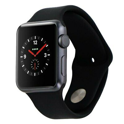 Apple Watch 42mm Aluminum Sports Band iWatch - BLACK  SPACE GRAY  MP032LLA