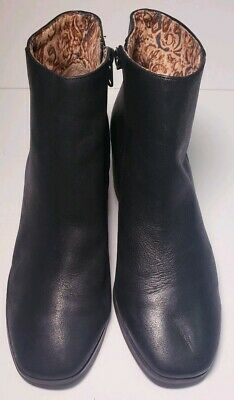 Lucky Brand Womens Classic Black Leather Pumps Ankle Boots Size 8-5