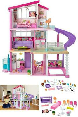 Barbie Dreamhouse Doll House Playset with 70- Toys Accessories Free Shipping
