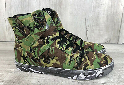 ROTHCO X SUPRA SKYTOP SHOES GRN CAMO CANT SEE ME EUR 45-5 MENS US SIZE 11-5