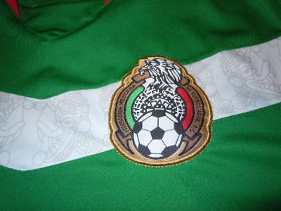 MEXICO El Tri WORLD CUP Soccer Jersey - SEWN LOGO - Adult Mens Large L