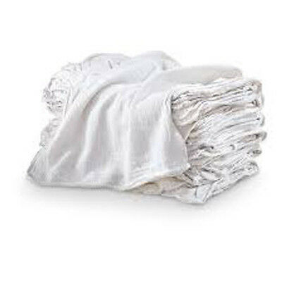 1000 INDUSTRIAL SHOP RAGS  CLEANING TOWELS WHITE