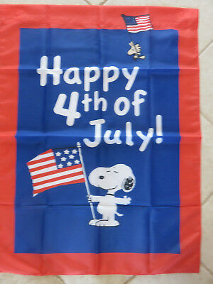 Snoopy Peanuts 4th of July Garden Yard Flag Large Brand New